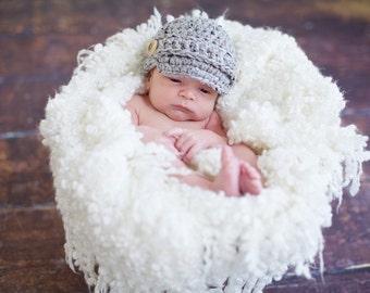 Newsboy Hat  Photo Prop Boys, Newborn Boys Hats, Baby Boys Hats, Crochet Hat, Baby Boys Hats, Newborn Boys Clothing, Newborn Boy Hat