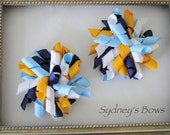 San Diego Chargers NFL Korkers Bow Hair Clip