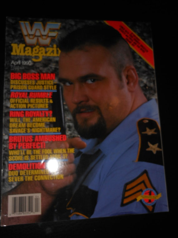 Huge 1990s Bi Level Remodel: Wwf Wrestling Magazine 1990 The Big Boss Man By