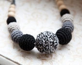 SALE - ready to ship - Ethno style nursing necklace - teething necklace