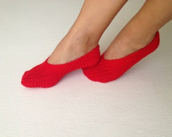 RED home slippers Healthy Booties Home slippers