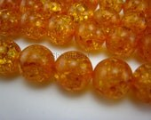 synthetic amber round bead 12mm 15 inch strand