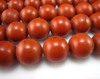 red jasper round bead 10mm 15 inch strand