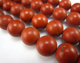 red jasper round bead 12mm 15 inch strand