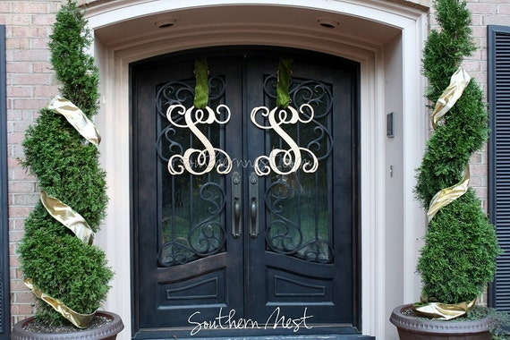 Double Doors-Two Large (20 inch) Wooden Monograms-Ready to Paint-Single Letter
