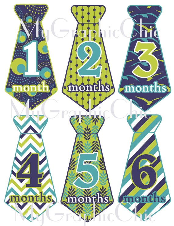 Items similar to INSTANT DOWNLOAD SALE Baby Boy Monthly ...
