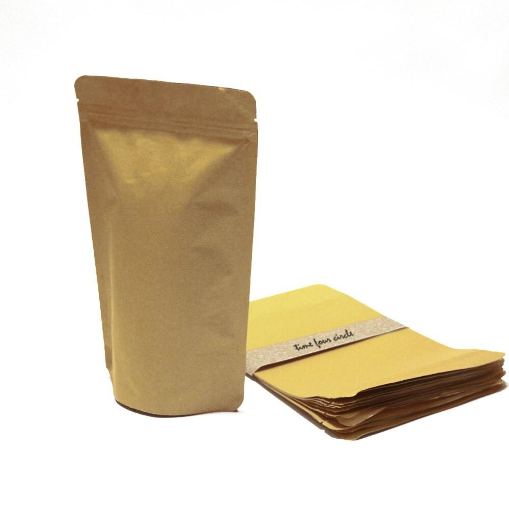 Set of 50 kraft close bag food safe paper bags favor gift for Cuisine kraft