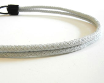 Double Strand Light Blue Grey Rope Headband