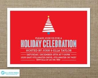 Christmas Party Invitation - Christmas Tree Invitation Christmas Invitation - Holiday Party Invitation - Christmas Printable Party