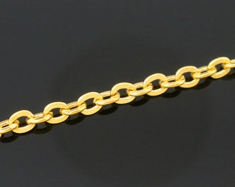 32ft Gold Plated Cable Chain - 3x2.5mm - Wholesale Chain, Bulk Chain, Necklace Chain, Jewelry Finding, Jewelry Making, Ships from USA - CH6
