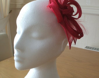 Hot Pink, Leaf and Loop Fascinator, Races, Weddings, Prom, Cruise, Derby, Melbourne Cup