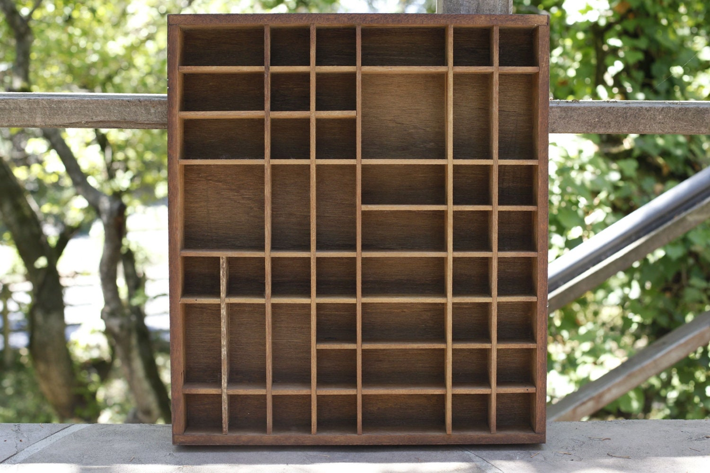 Vintage Wooden Shadow Box Shelf