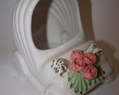 Baby Carriage Planter Nursery Decor White Carriage Baby Buggy Planter