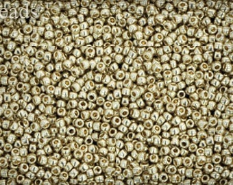 Toho beads seed 10g size 15/0 Permanent Finish - Galvanized Aluminum Nr. 15-PF558 Silver Metallic Gray Opaque last