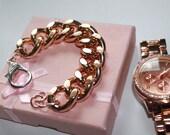 Ultra Bold: Rosegold Chunky Bracelet, Chunky jewelry, Chunky bracelet