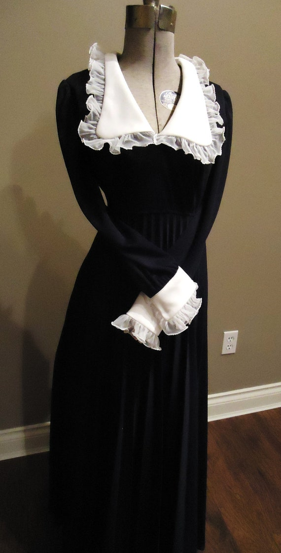 RESERVED for Taylor Costume, Mary Poppins Style Dress, Governess, Made By Ronda Roy, Montreal, Vintage, Black