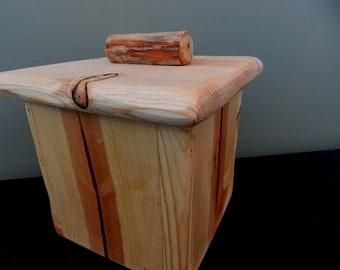 Natural Pine - Rustic wooden box