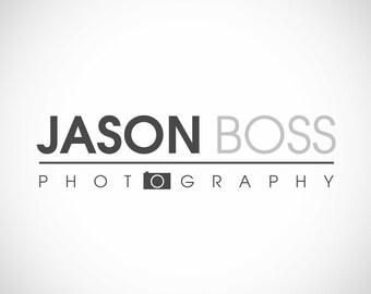 Modern Photography Logo and Watermark