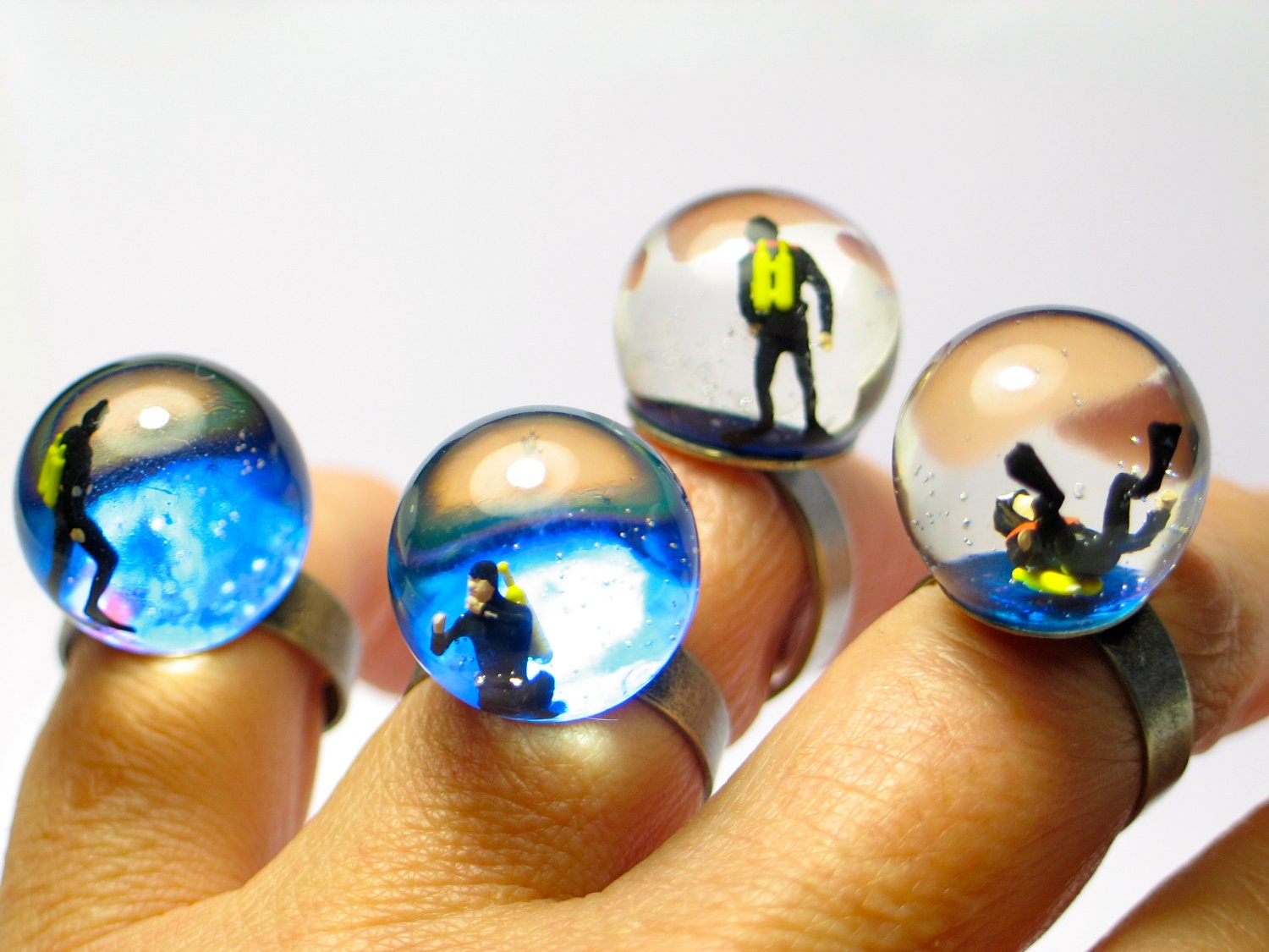 Scuba Diving Jewelry Rings