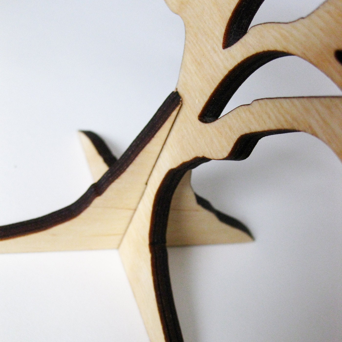 Small Tree Stand With Bird Jewellery Holder Wood