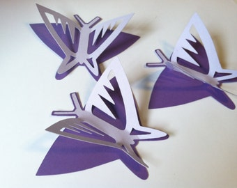 3d Butterfly Wall Art Etsy
