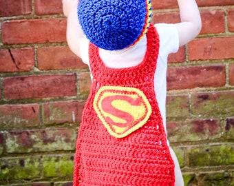 SUPERMAN costume or photo prop (2-5T pdf pattern)