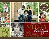 Christmas Photo Card -- Holiday Photo Card (digital or print yourself) custom, personalized