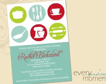 Kitchen Shower Invitation-- Kitchen Bridal Shower Invitation -- Wedding Shower Invite -- custom, printable, digital