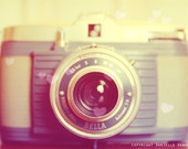 Vintage Camera Photo Bilora Bella Blue--Fine Art Lomography 8x12