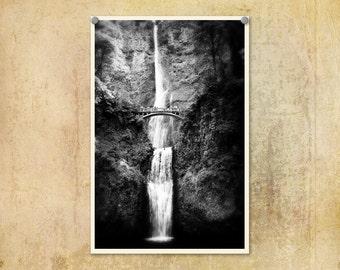 Landscape Photography Multnomah Falls--Fine Art Landscape Photography 8x12