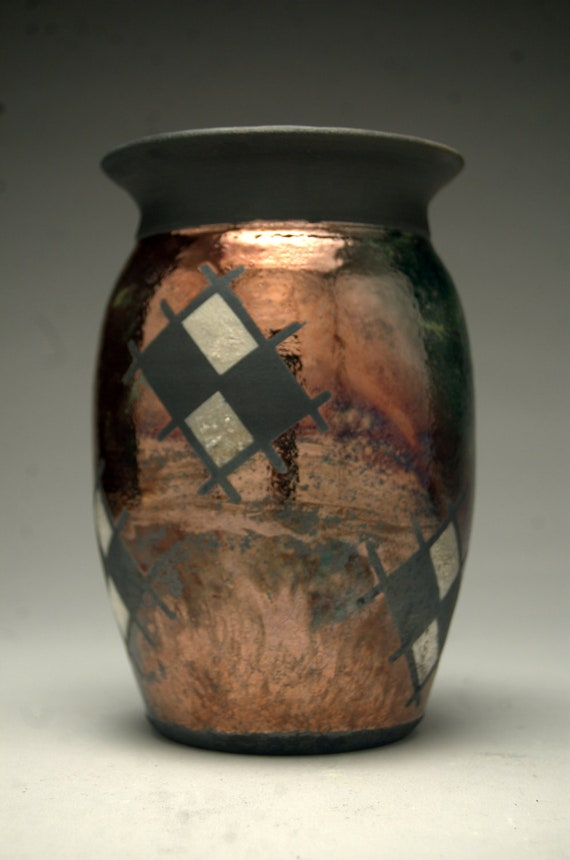 Copper Vase - Raku Pottery - Seconds Discount