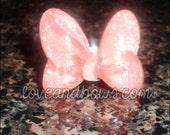 peach/pink minnie bow ring