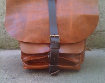 Unisex backpack / handcrafted leather bags in NYC