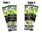 Custom Regular Show Inspired Birthday Ticket Style Invitations, Style 1 or Style 2, JPEG only, you print or send as E-card