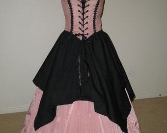 Renaissance Handkerchief over skirt any color!!!! any size!!!