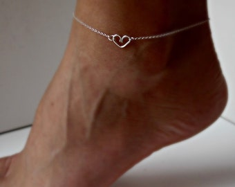 Silver Anklet Beach Wedding Sterling Silver Delicate jewelry Sorority gift Girlfriend gift Shower Gifts Will you Be my Bridesmaid