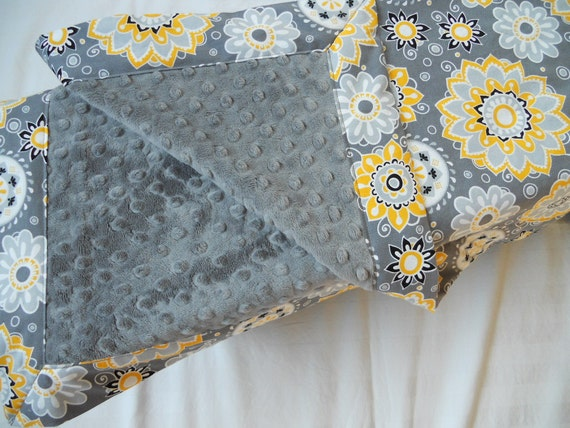 Items Similar To Charcoal Minky Baby Blanket In Gray With