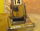 vintage chrome perpetual flip calendar