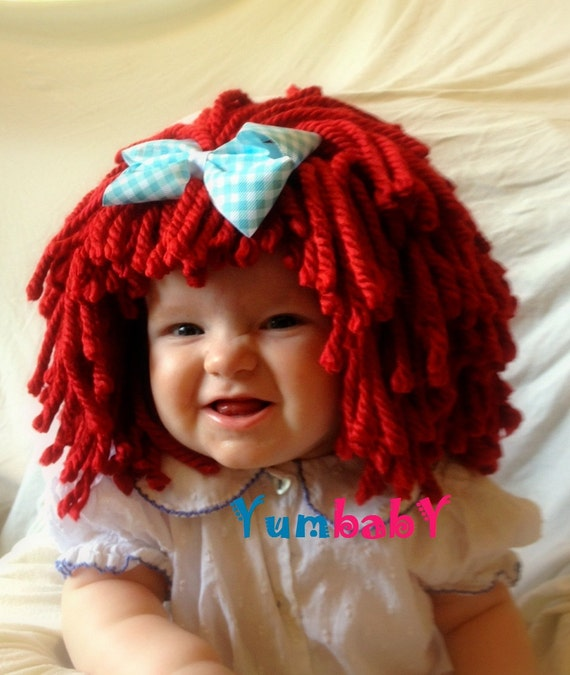Items Similar To Raggedy Ann Wig Baby Hat Kids Clothes