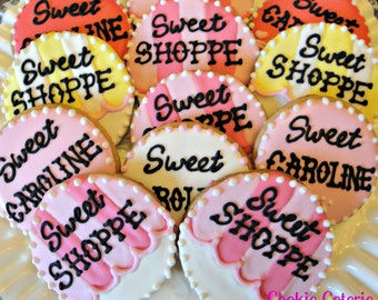 Sweet Shoppe Candy Shop Decorated Cookies Birthday Cookie Favors One Dozen