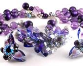 Exquisite DeMario Demi Parure Purple Blush Classic Set 245.00 obo
