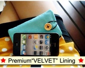 PREMIUM velvet lining ipod case, ipod sleeve , ipod classic sleeve, ipod fabric case, ipod classic accessories