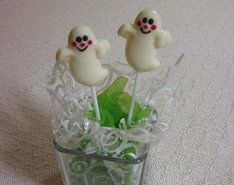 12 Ghost chocolate pops