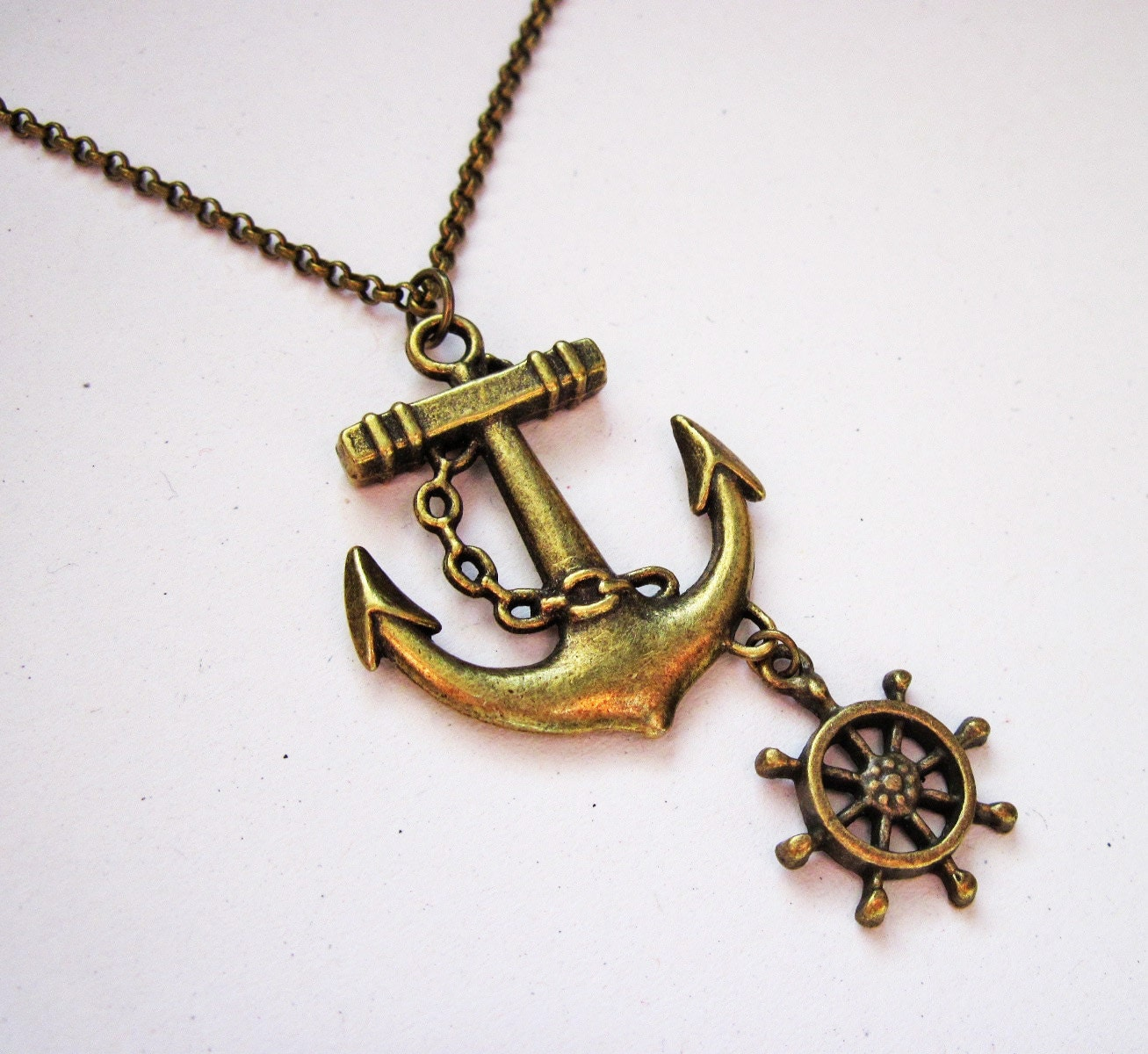 anchor necklace nautical jewelry sea necklace beach