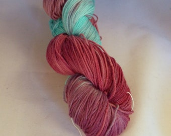 Raspberry Ice on Squishysock MCN fingering weight yarn