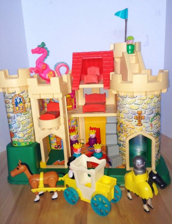 Toy Castles For Little Boys : Vintage fisher price castle set by hudsonriverheart on etsy