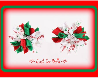 CHRISTMAS Candy Cane Mix --  Korker Dog Bows