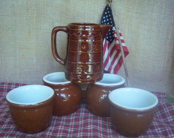 Hall Bean Pots and Marcrest Creamer