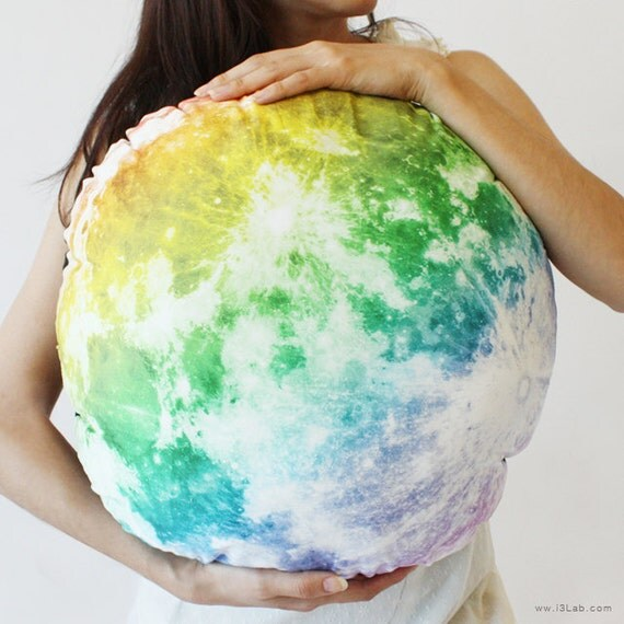Full Moon hug pillow /M-size, NOCTURN BY MOON  (rainbow full moon pillow-50cm)