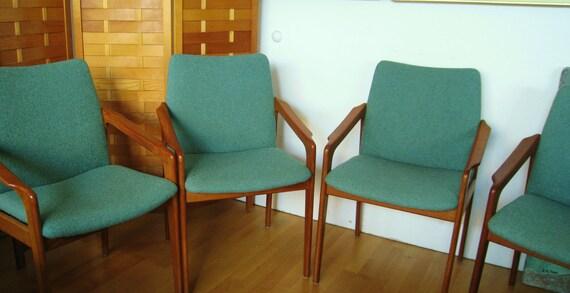 Danish Modern Kai Kristiansen mid century teak chairs Denmark